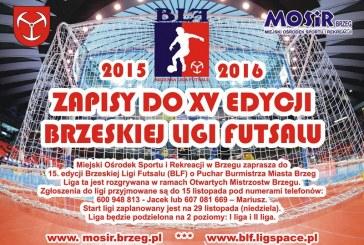 Zgłoszenia do Brzeskiej Ligi Futsalu