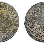 Awers i rewers 3 krajcary z 1657 r.