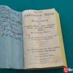 Spis instytucji pruskich z adnotacją brzeskiego introligatora Leutztlinga z 5.11. 1822