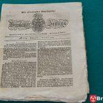 Numer Nowego Dziennika Wrocławskiego z 4.11. 1822 r