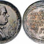 Medal jubileuszu Reformacji, bity we Wrocławiu w 1817 r. (awers i rewers)