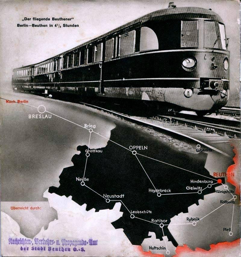 mapa połączeń kolejowych przed II Wojną Światową
