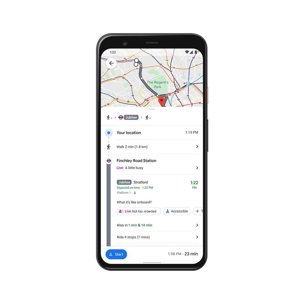 Mapy Google komunikacja miejska